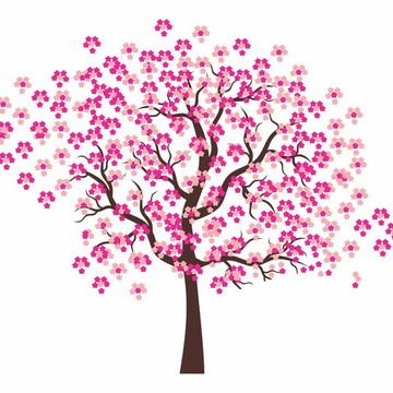Adesivo De Parede Decorativo Sakura Árvore Cerejeira
