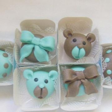 Urso Azul - Doces Modelados
