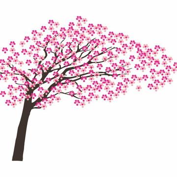 Adesivo De Parede Decorativo Árvore Cerejeira Sakura