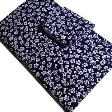 Carteira Flores azul