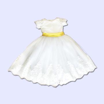 Vestido Daminha Tule Francês - Infantil