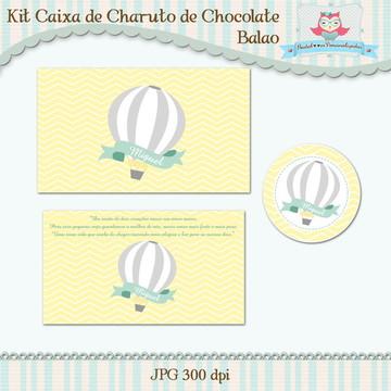 kIT Caixa de Charuto de Chocolate Balão