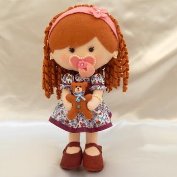 Boneca Baby Cachinhos - Boneca em Feltro