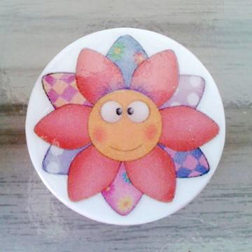 Puxador estilo Porcelana sol, flor