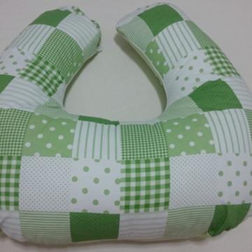 Almofada de Amamentação Verde Patchwork