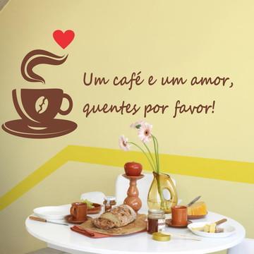 Adesivo cozinha café amor