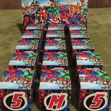 caixa super herois