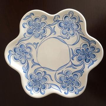 Prato Floral Azul