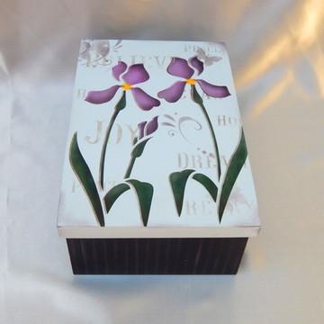 Caixa MDF Pintada à Mão - Flores
