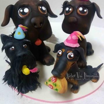 Festa Cachorros Topo cachorrinhos