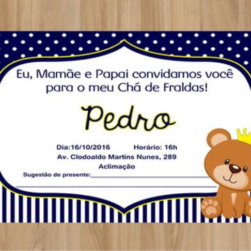 Convite Digital Ursinho Príncipe