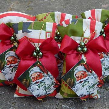 Lembrancinhas de Natal Sache Laço Aroma