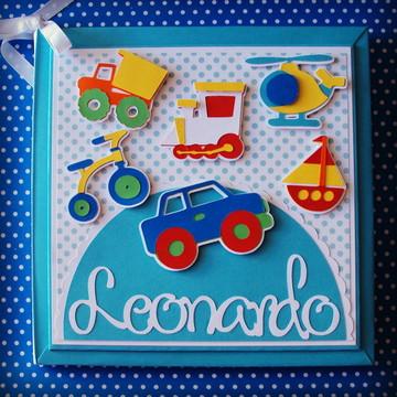 album diario bebe brinquedos menino colorido scrapbook