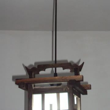 lustre de teto luminária oriental japonês