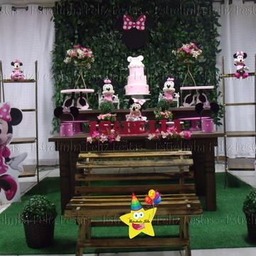 Locação decoração minnie rosa