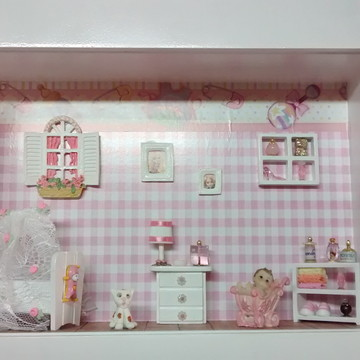 Quadro porta maternidade rosa