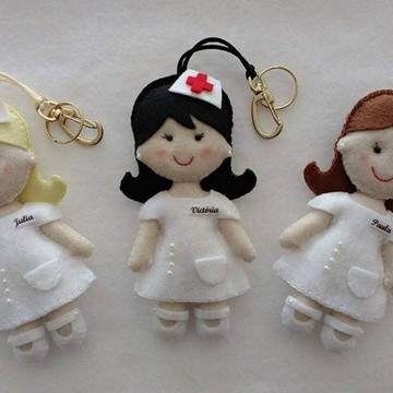 Enfermeira em feltro