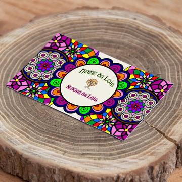 Cartão de Visita Mandala Arte