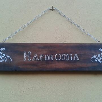 Placa rústica harmonia