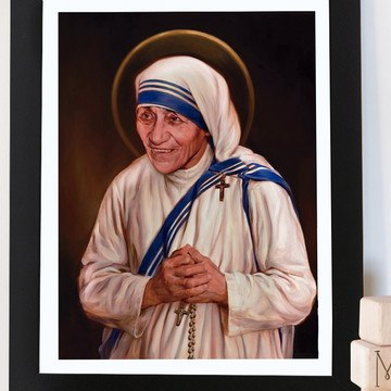 Quadro Retrato Santa Madre Tereza
