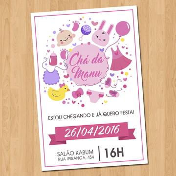 Convite - Chá de Bebê Menina