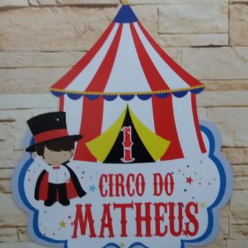 Placa em Pvc Circo