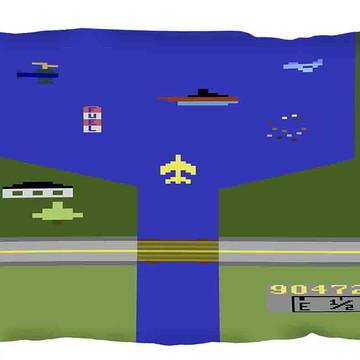 Almofada River Raid - Atari - Retrô