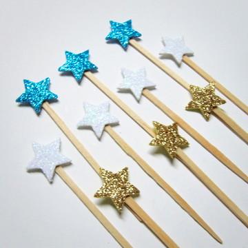 Pick Glitter Estrela Cinderela