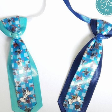 Gravata Pet - Cachorrinho Azul