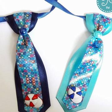 Gravata Pet - Estampada Azul