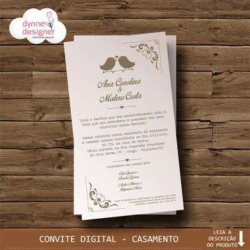 Convite Digital - Casamento