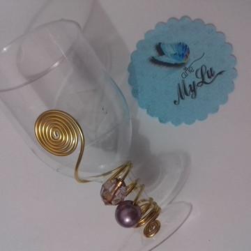 Mini taça bordada - Roxa