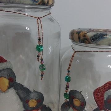 Kit de potes pinguim de natal