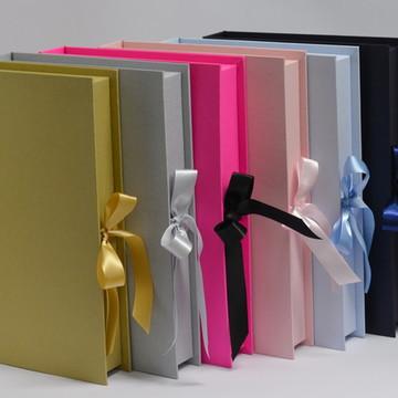 Caixa Book p/ álbuns e Livros de ouro 34x24x5 cm
