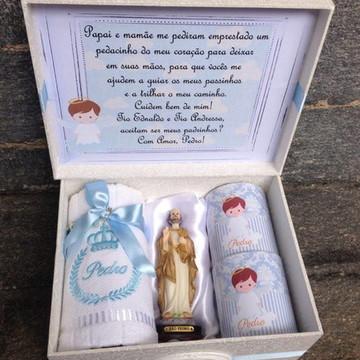 Caixa Convite Padrinhos de Batizado