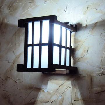 arandela luminária de parede rustica
