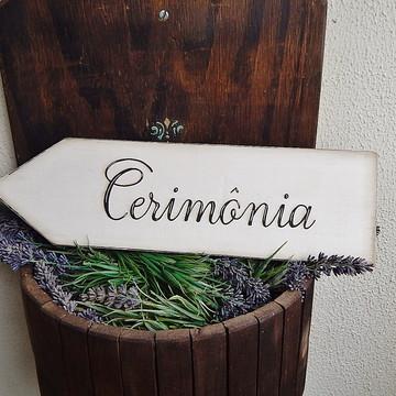 Placa Casamento - Cerimônia