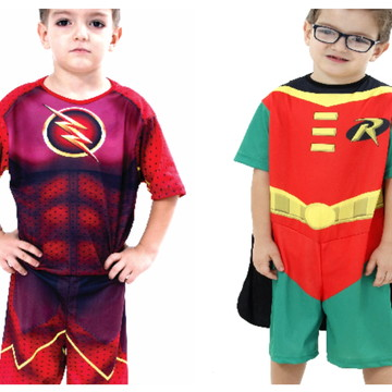 Combo 2 Fantasias Flash e Robin