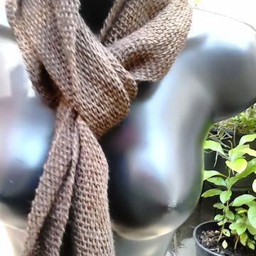 Gravatinha cachecol em tear verão