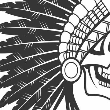 adesivo decor caveira apache