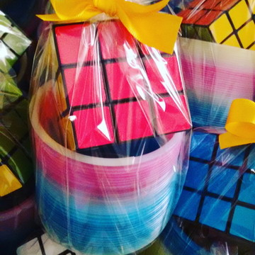 Lembrancinha Educativa Dia das Crianças Retro Mola Cubo
