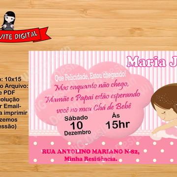 Convite Digital Bailarina chá de bebê