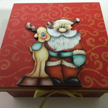NATAL Lembrança de Natal - Caixa Papai Noel
