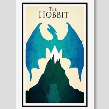 Quadro O Hobbit Minimalista Filme Cinema