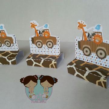 Caixa para chocolatie festa safari