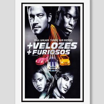 Quadro Velozes e Furiosos 2 Filme Cinema
