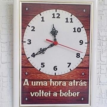 Relógio - Anti-Horário Voltei a Beber