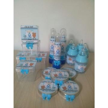 Kit personalizado chá de bebê 40 pç