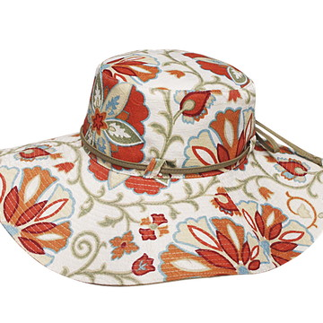 Chapéu Aba Larga Floral