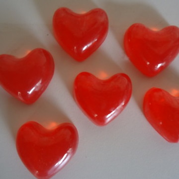 Sabonetes de coração